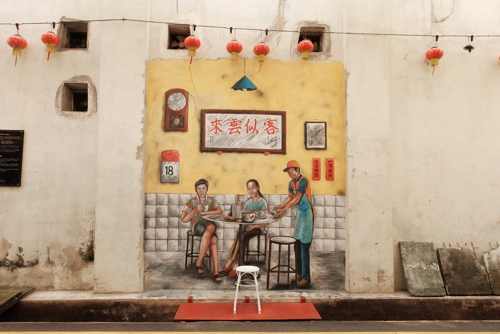 A mural in the Market lane, Ipoh , one of the best places near Singapore