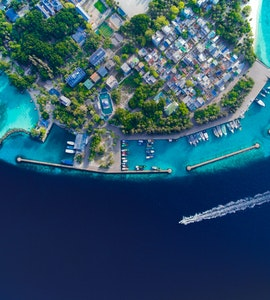 Mirihi island in Maldives