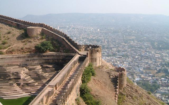 the aerial view of the Nahargarh fort