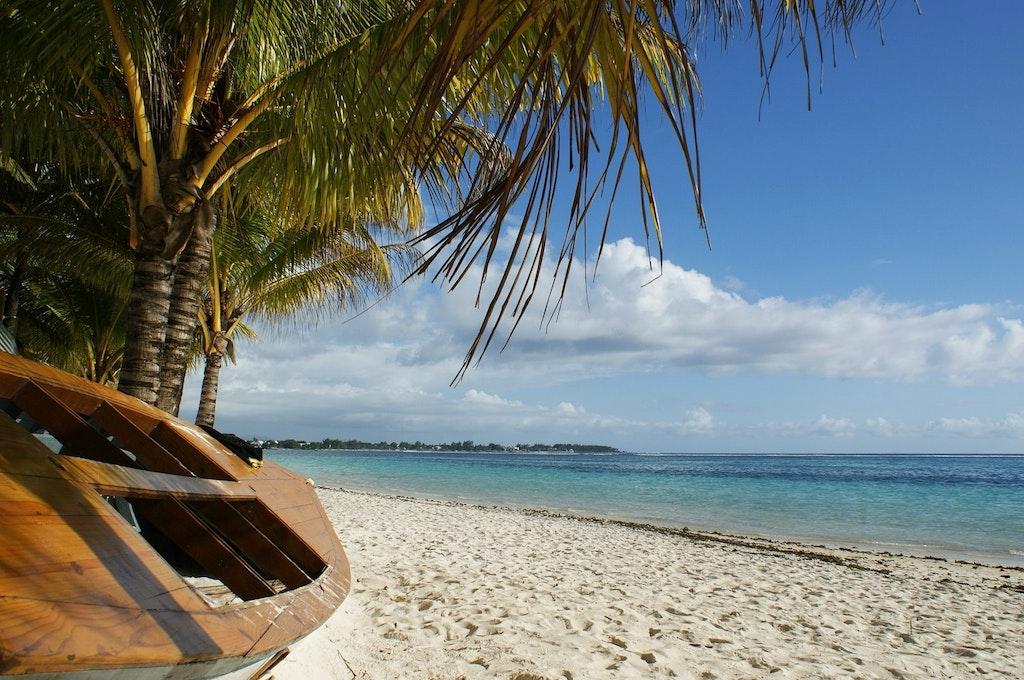 Ocean boat in a Beach