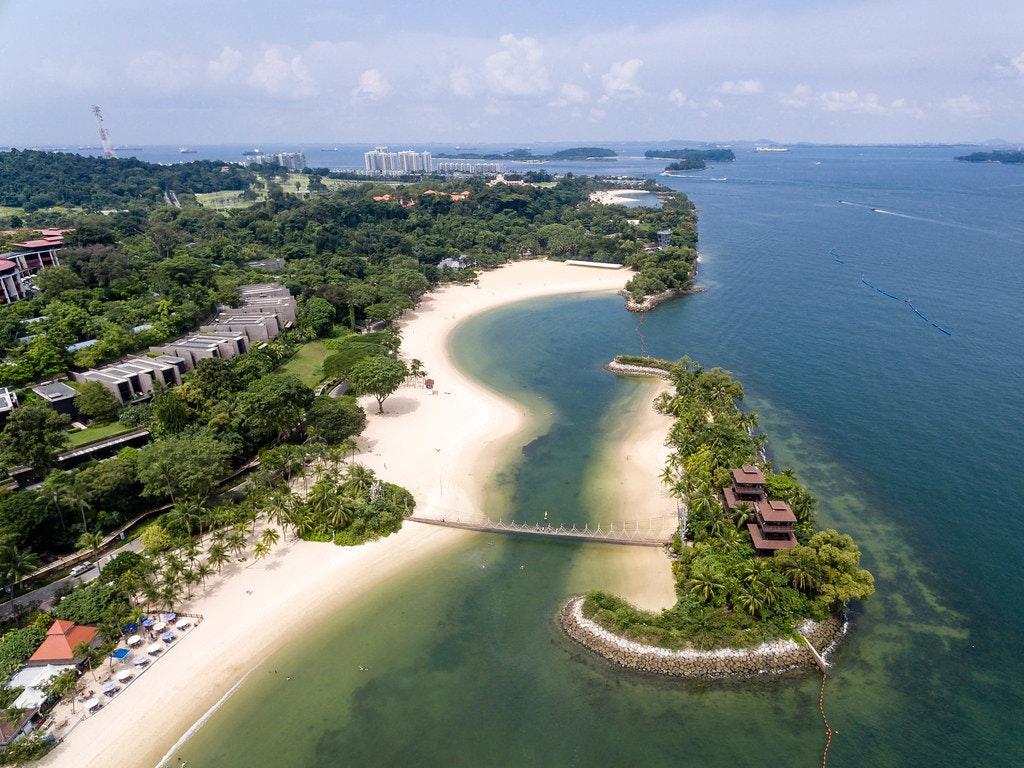 Drone view of Palawan beach