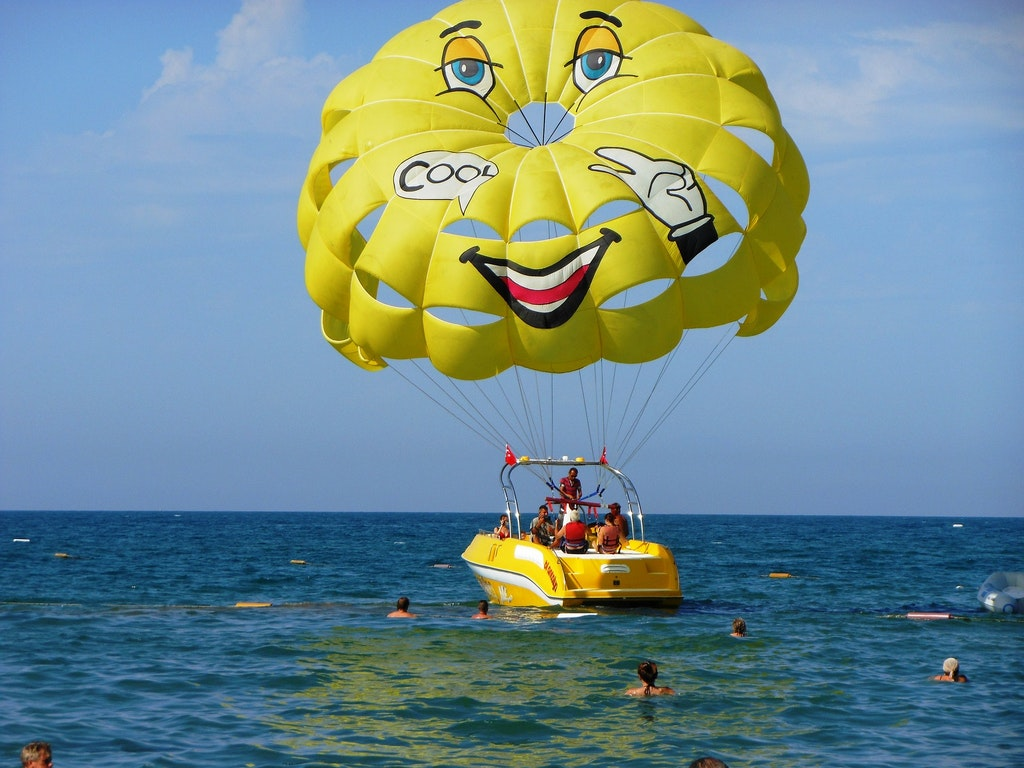parasailing at Grand Bay