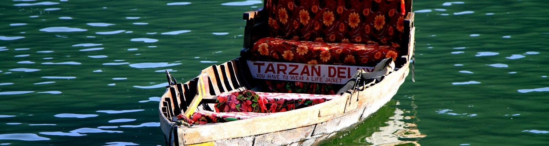 A view of boat in the Nainital lake, Nainital