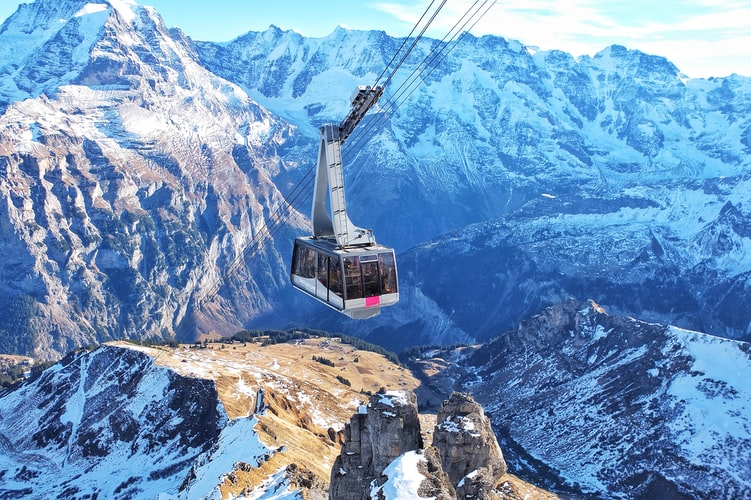 Cable Car ride in Switzerland