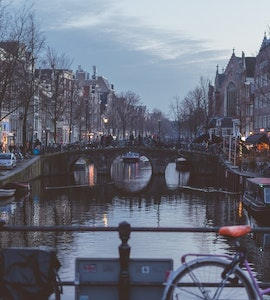 Amsterdam after sunset