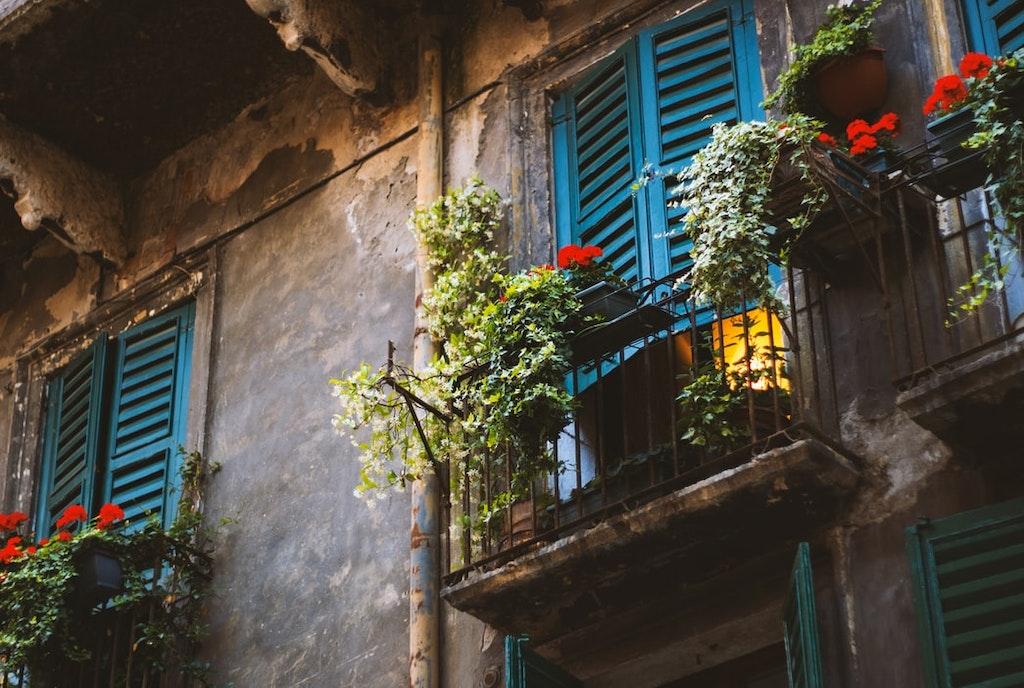 A cute balcony in Verona, Italy.