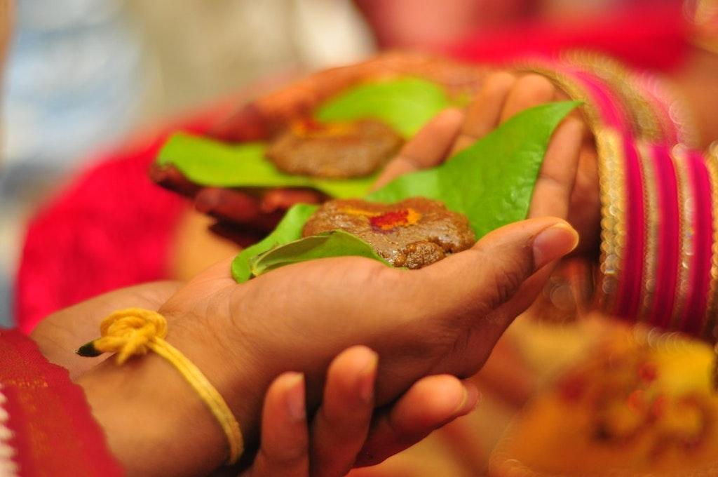 A Hindu marriage in progress.