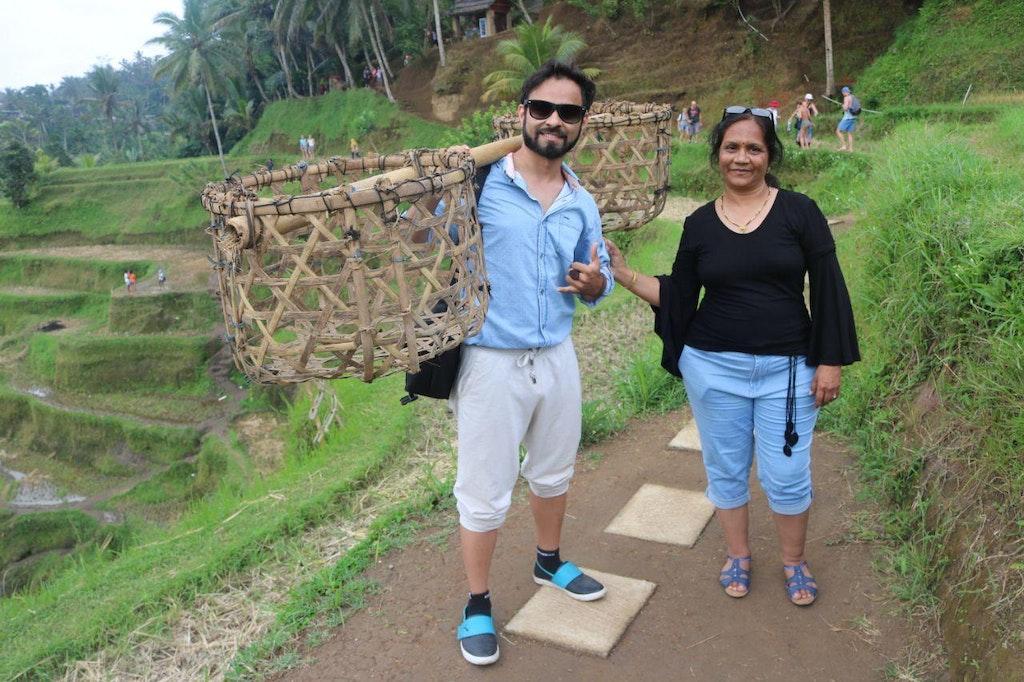 Ajinkya with his mom