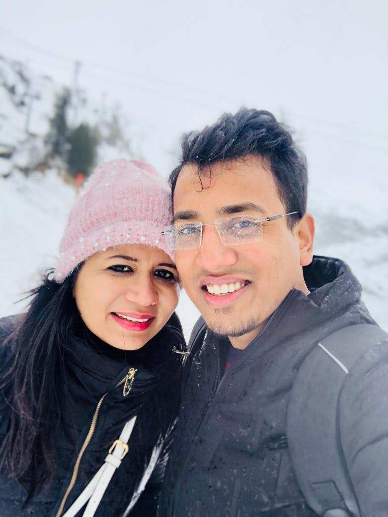 with my wife at titlis