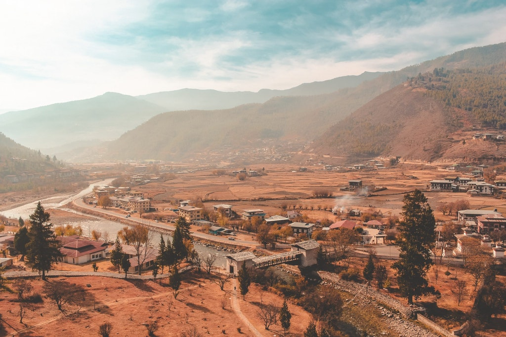An amazing picture of Bhutan
