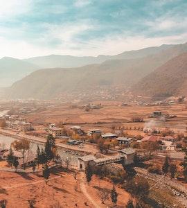 Aerial view of Bhutan