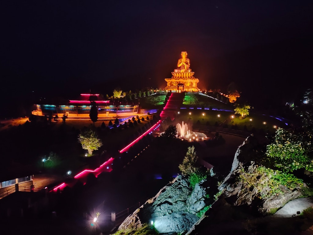 A night view of Sikkim