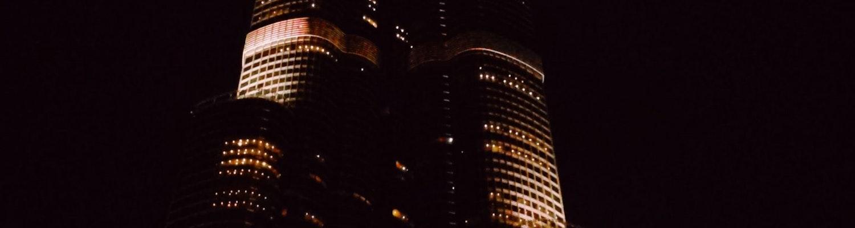 Burj Khalifa at night