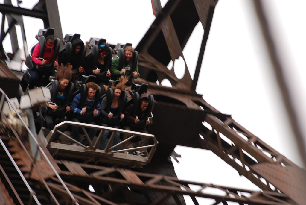 roller coaster at gold reef city theme park