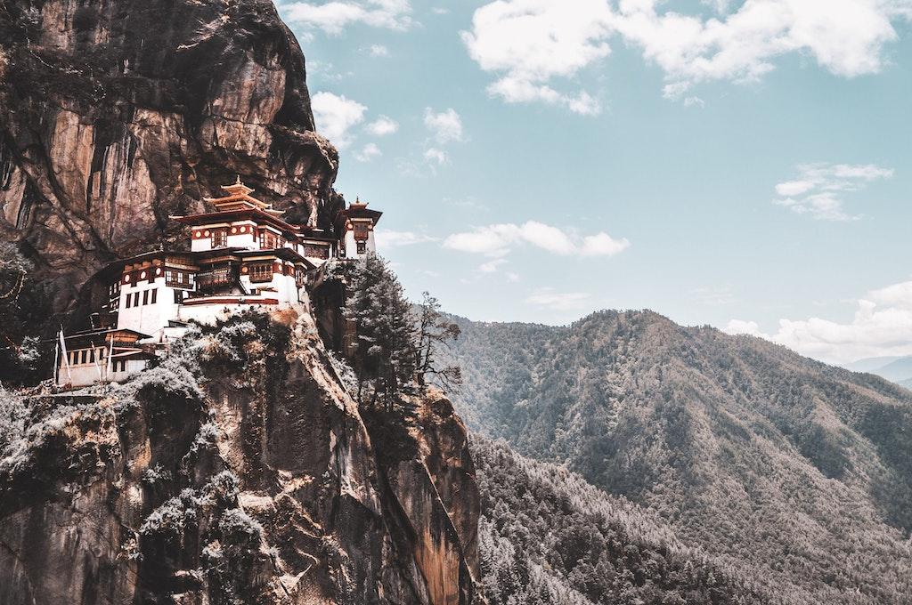 Amazing view of Paro taktsang in Bhutan