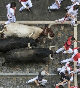San Fermin- bull racing in Pamplona