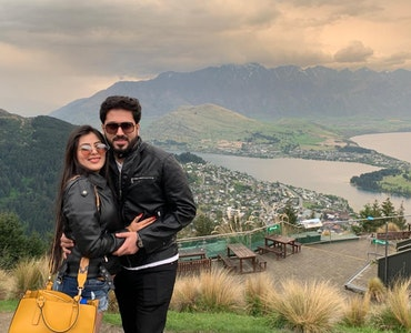 With my wife at alps view