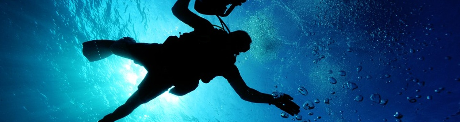 Scuba Diving in the clear waters