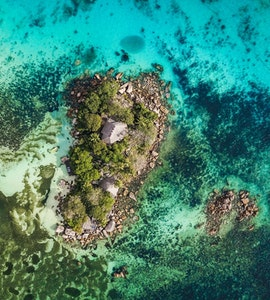 Seychells island top view