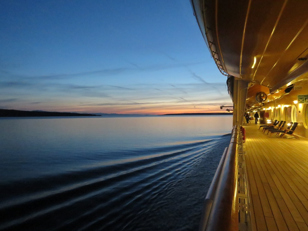 Evening on a cruise