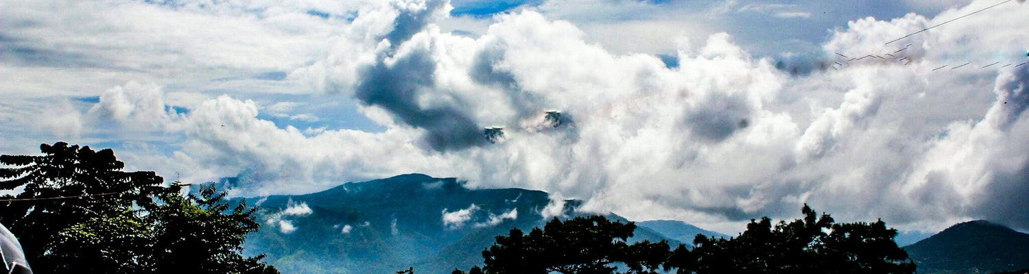 View of Shillong clouds