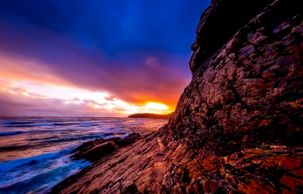 Shoreline Sunset at South Africa