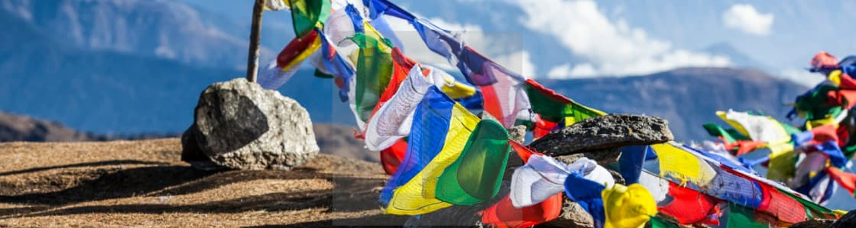 Prayer flags in Sikkim