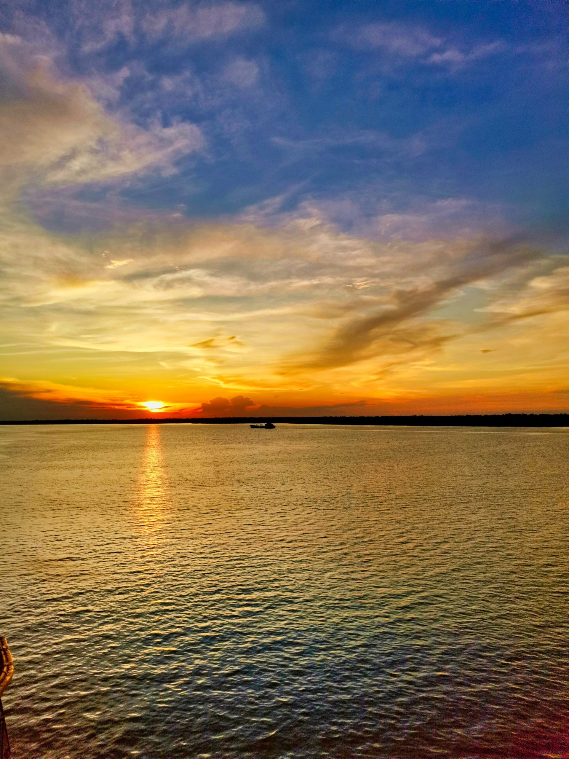 Sunset view in Malacca Beach, Malaysia worth visiting from SIngapore