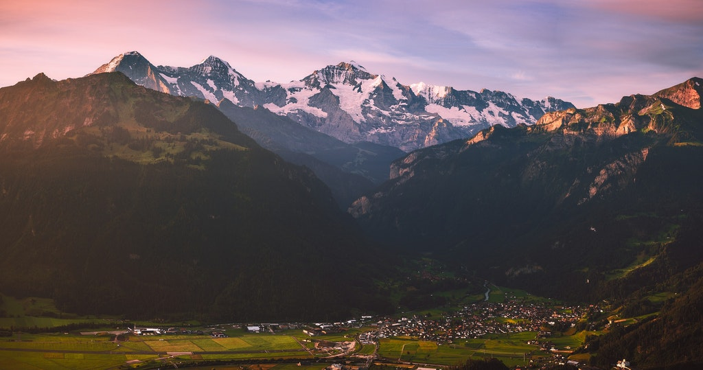 March Sunrise in Interlaken, Places to Visit In Switzerland in March