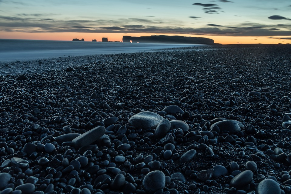 Black Sand Beach in Greece