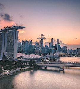Long view of Marina Bay Sands