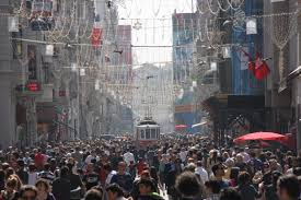a busy afternoon in the Taksim square