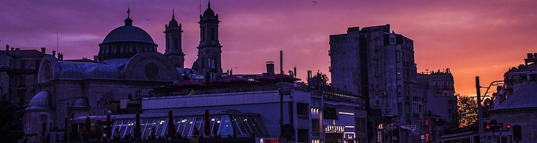 taksim square in the night