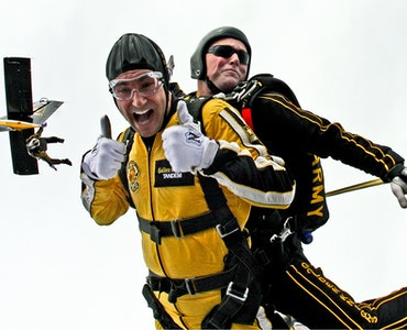 Skydiving in Austria