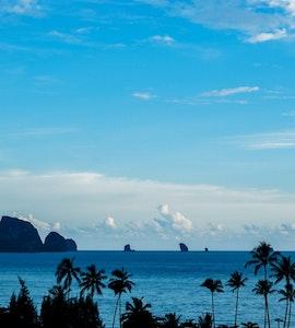 View of Ao Nang beach in krabi