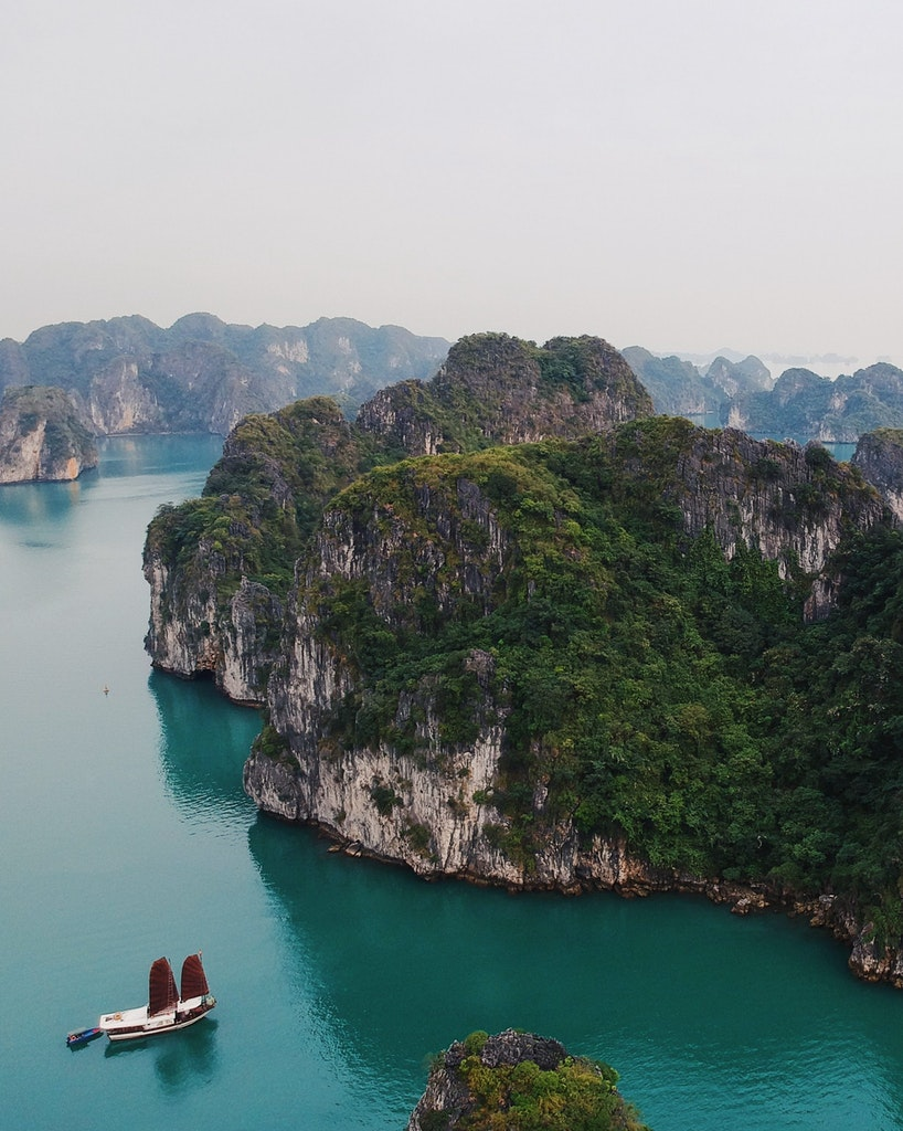 One of the Island in Halong bay