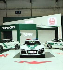 police cars in Dubai