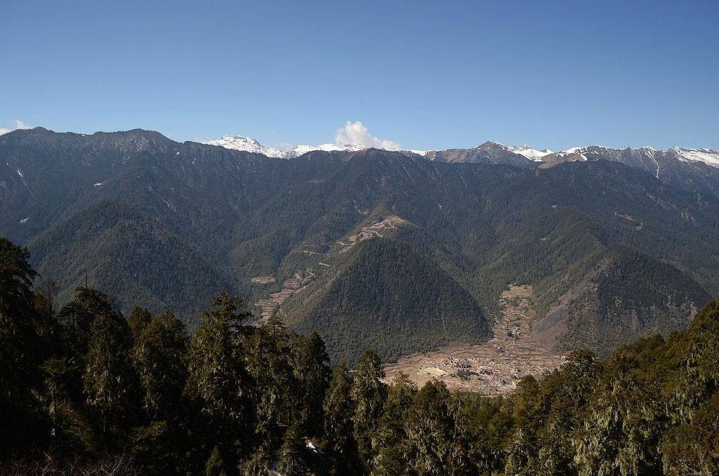 Miri Punsum Hills in Haa, Bhutan