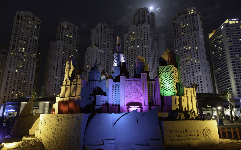 An awesome picture of Expo 2020 in Dubai in UAE