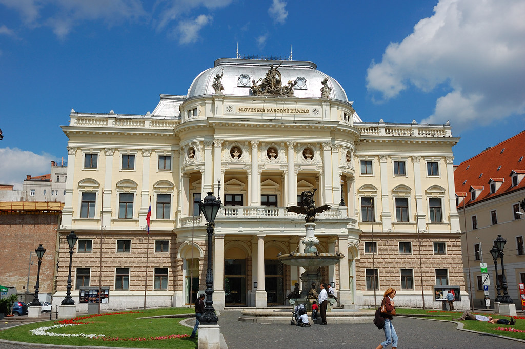 A beautiful view of the Slovak National Theatre