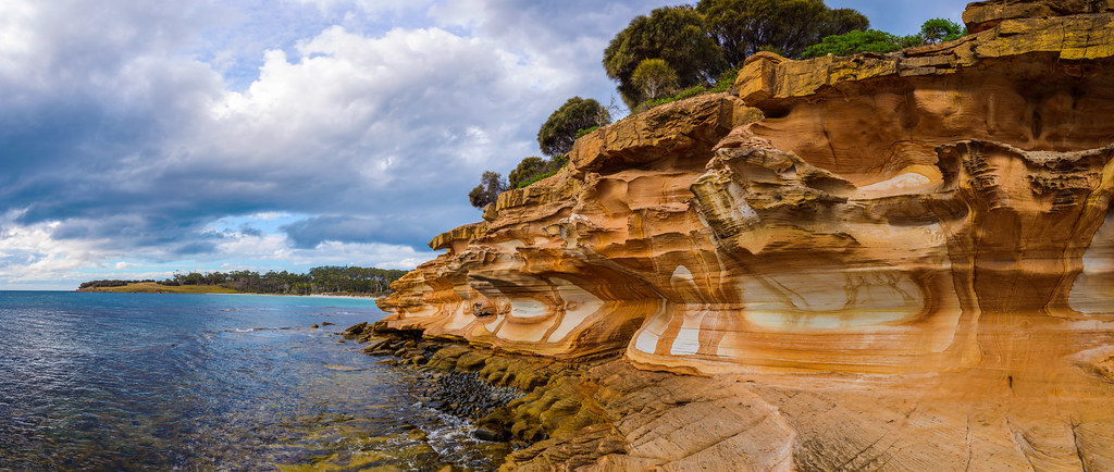 The painted mountains at the Maria Island Walk, Tasmania