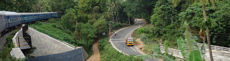 Kollam- Shenkottai, Rail Road Kerala, India