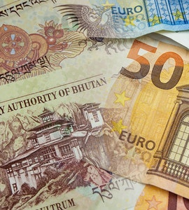 Ngoltrum and Euro currencies