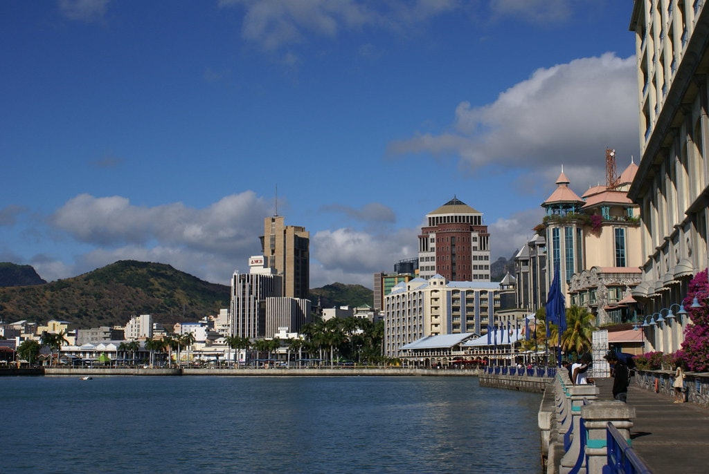 An amazing picture of Caudan waterfront in Port-Louis, one of the cities in Mauritius