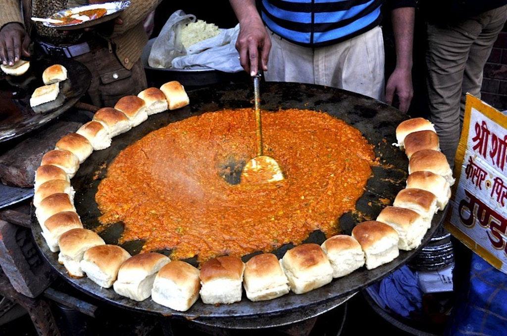 Pav Bhaji, one of the best street food in Udaipur