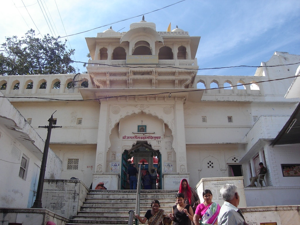 The entrance of the Brahma mandir in Pushkar