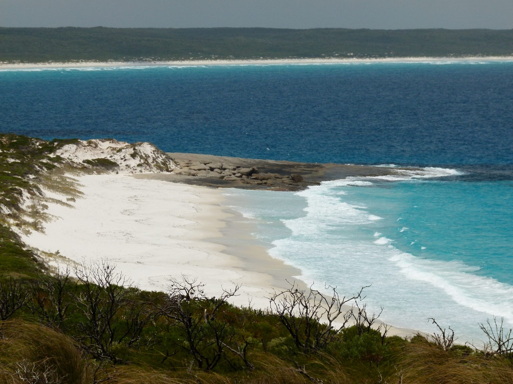 A view of the beach that was taken at the Cape Arid National Park