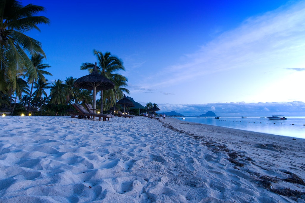 A view of the picturesque Flic en Flac beach in Mauritius