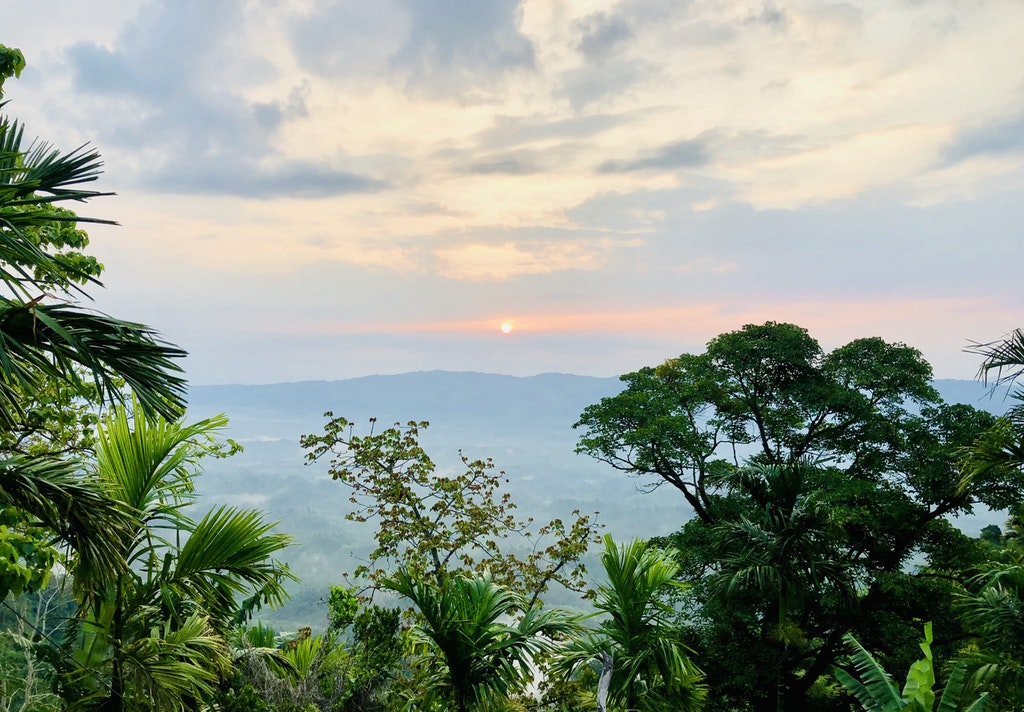 A picture of sunrise in Jampui hills, one of the things to do in Tripura