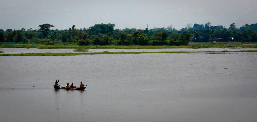 A picture of a group of people boating, one of the things to do in Tripura